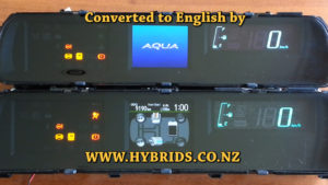Toyota Aqua Dash Japanese to English Covertsion