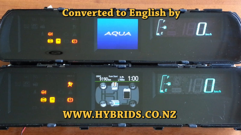 Toyota Aqua Dash Japanese to English Coversion