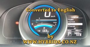 Nissan e-NV200 Dash - Japanese to 8 Languages Conversion